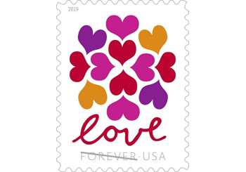 Stamp Hearts Blossom