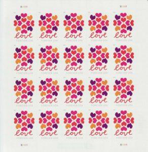 Valentine Stamps USPS