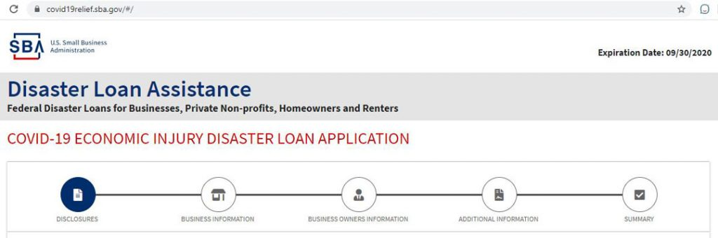COVID-19 ECONOMIC INJURY DISASTER LOAN APPLICATION